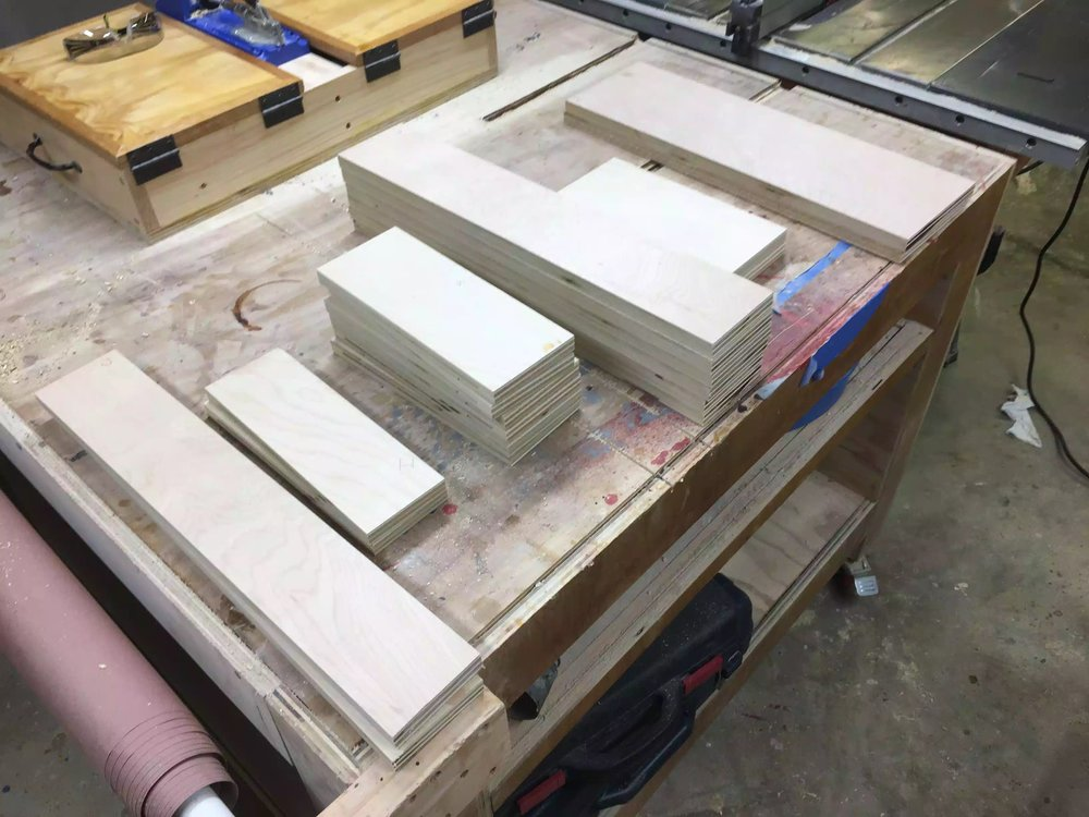 Another view of the drawer parts cut to size