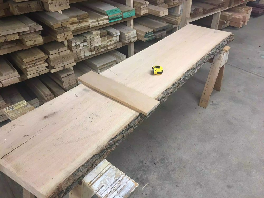They don't have a lot of live edge slabs like this, but what they do have is very nice