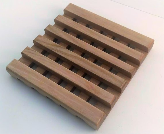 Waffle style trivet made in red birch