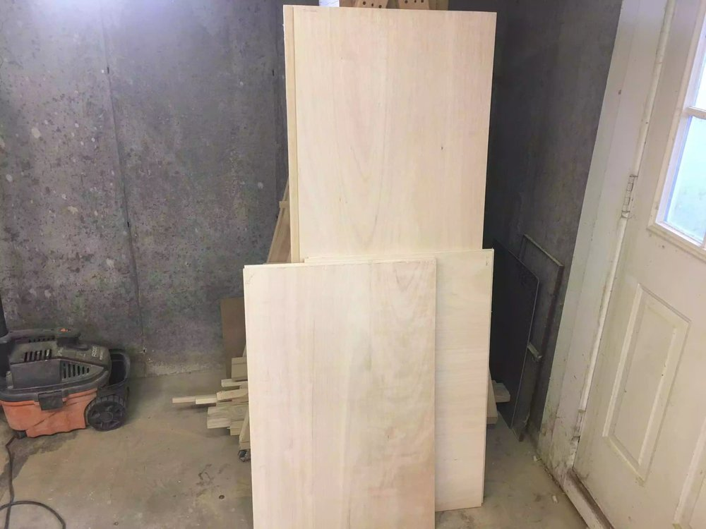 Here is all the plywood cut down to their respective dimensions