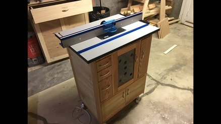 The finished router table & cabinet