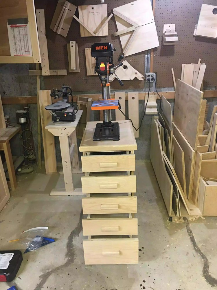 DRILL PRESS CART - PROJECT BLOG & PLANS