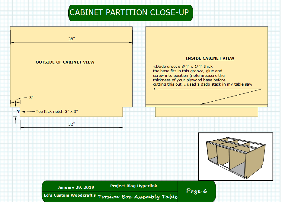 Here is the measurements needed to perform all the tasks on the vertical partition