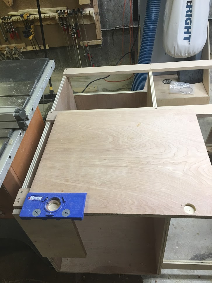Lined up the jig so the left side was flush with the door, then clamped in place