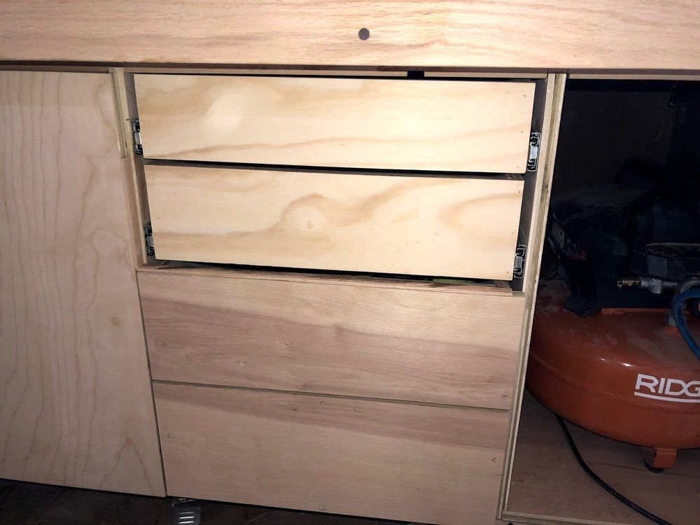 2 false front installed, as you can see the grain matches up as you look at the drawers.