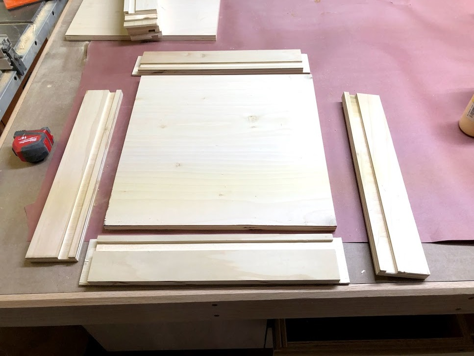 The trays are very shallow, but the design and joinery method used are the same as the big drawers we just installed.