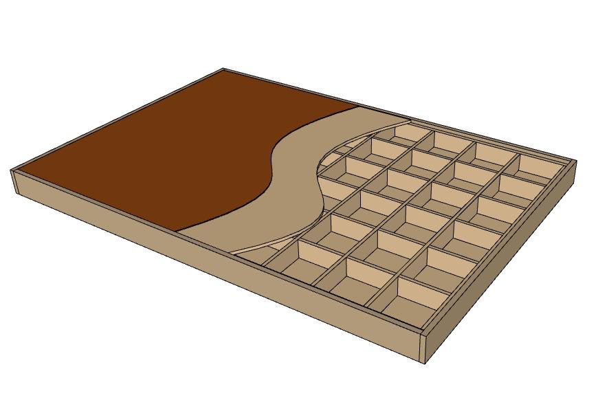 Layered view of torsion box