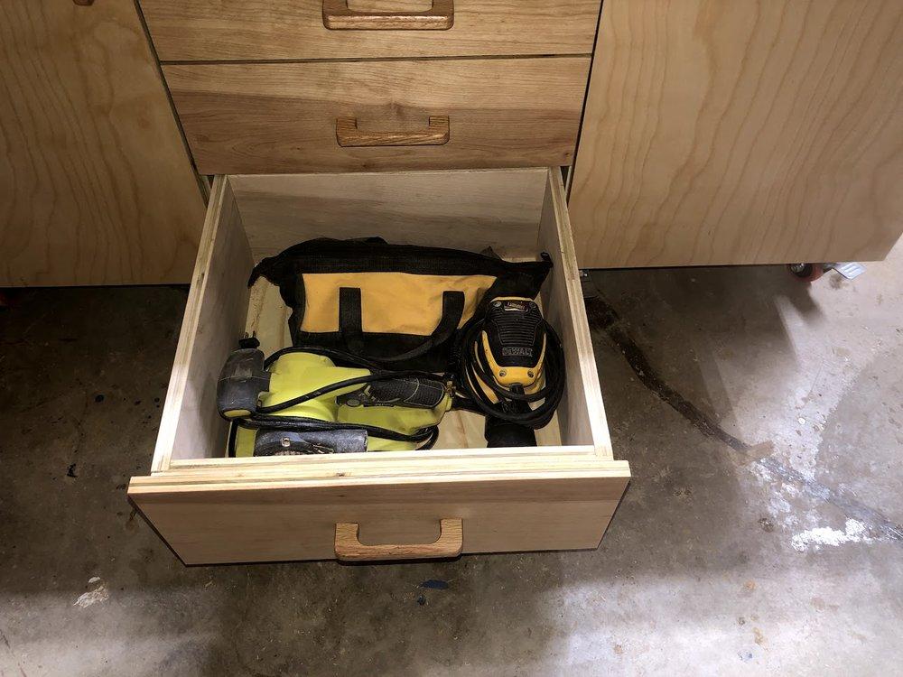 Sander drawer