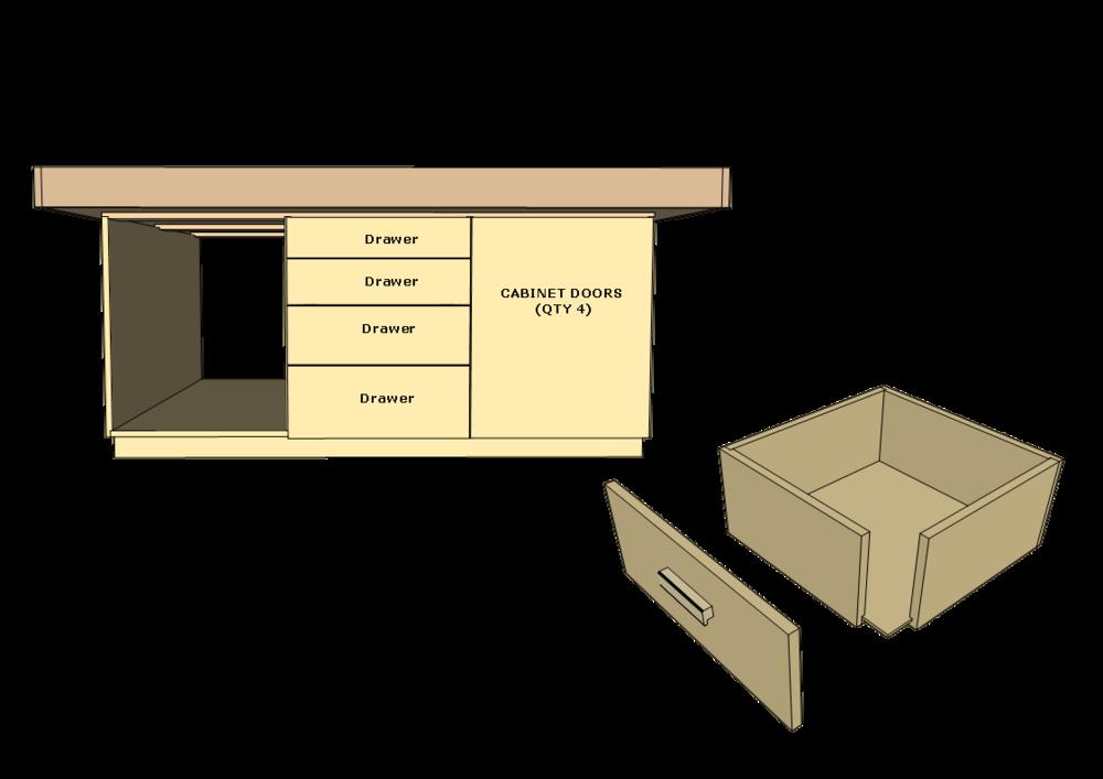 Phase 3: Drawers & Storage