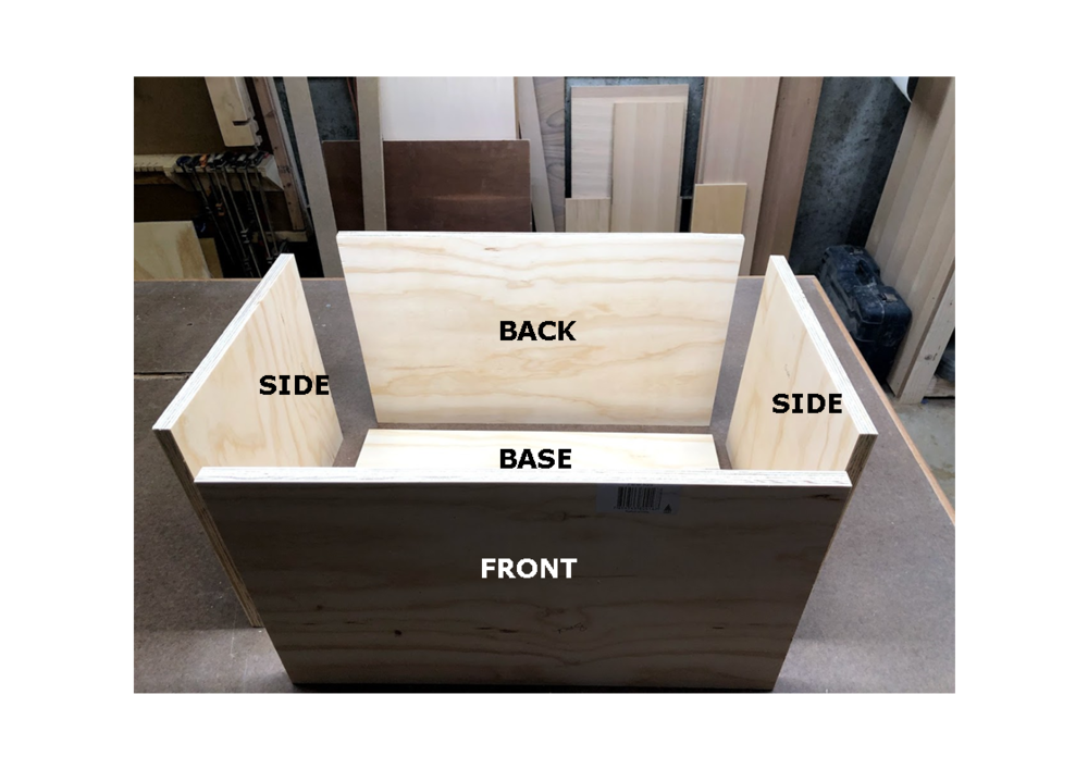 Here are the parts needed for making the box