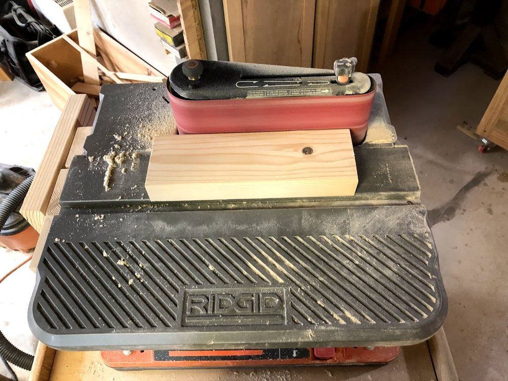 I also ran them across my oscillating belt sander with 120 grit paper.