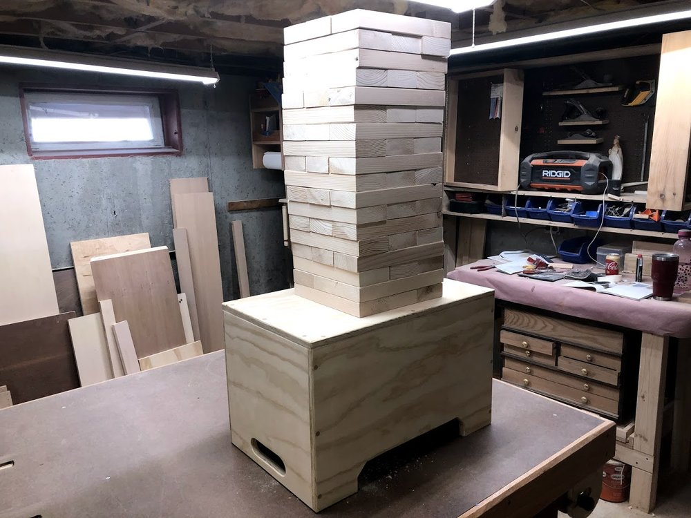 """Jenga Tower - This looks enormous but its about 40"""" tall"""