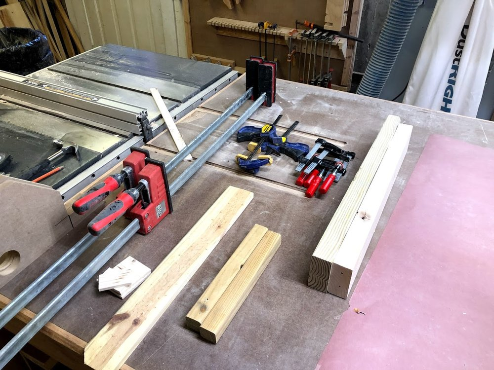 Everything ready for the glue up