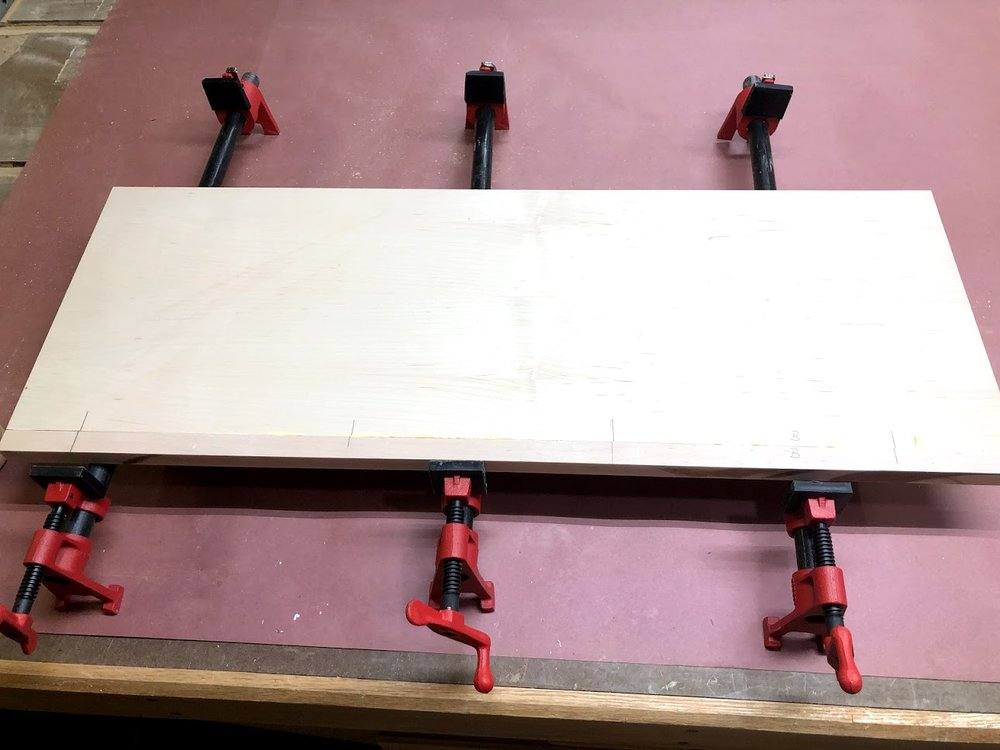 Here is the glued up side panel with the solid wood on its front it makes a huge difference.