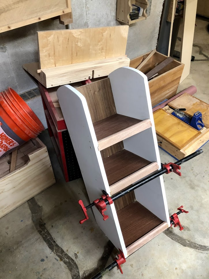 Clamps attached to keep everything square.