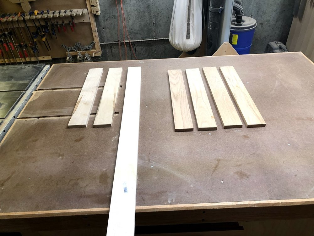 Hard Maple on the left & Red Oak on the Right.