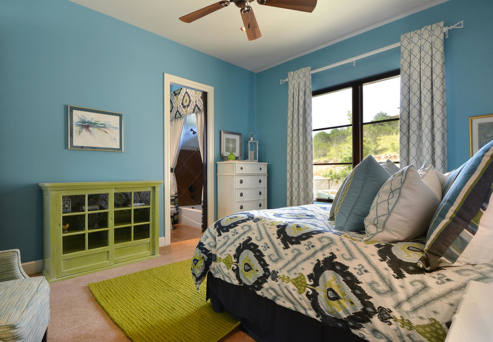 Contemporary Guest Bedroom with Faux Finished Curio Cabinet.jpg