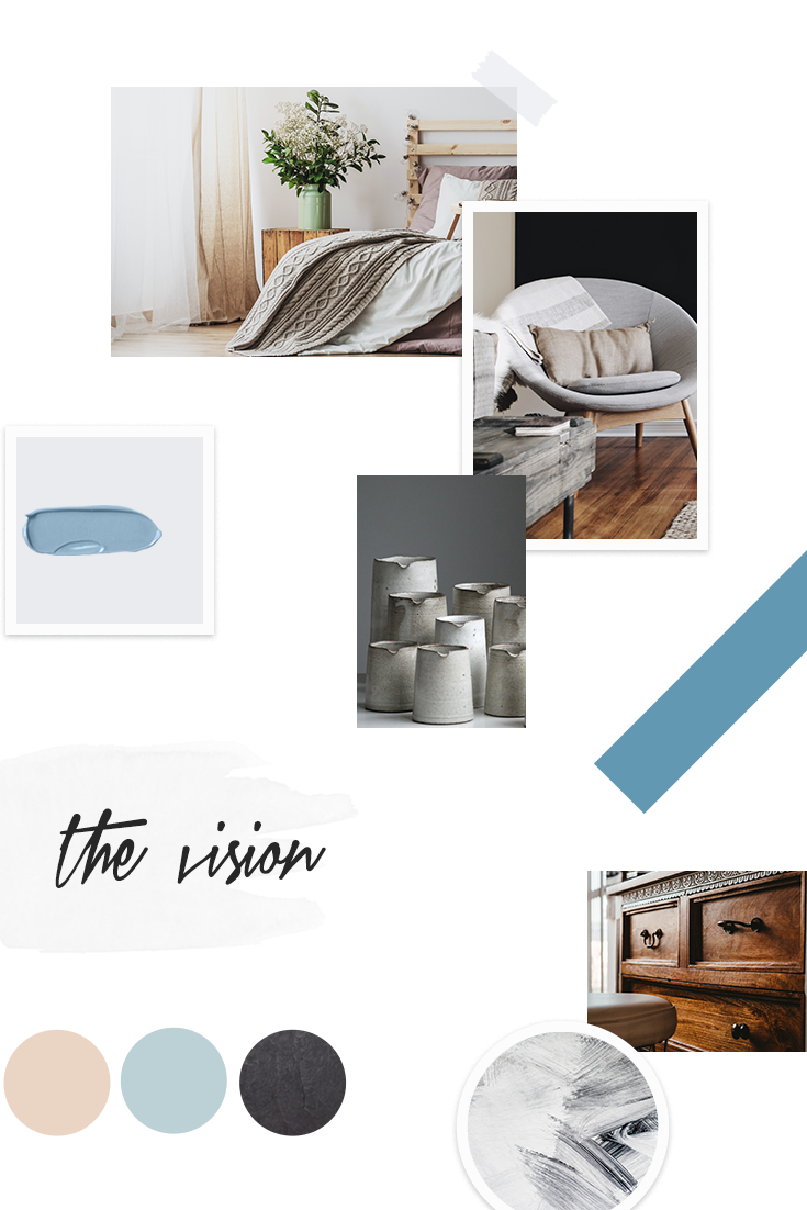 vision board frugal decor & more