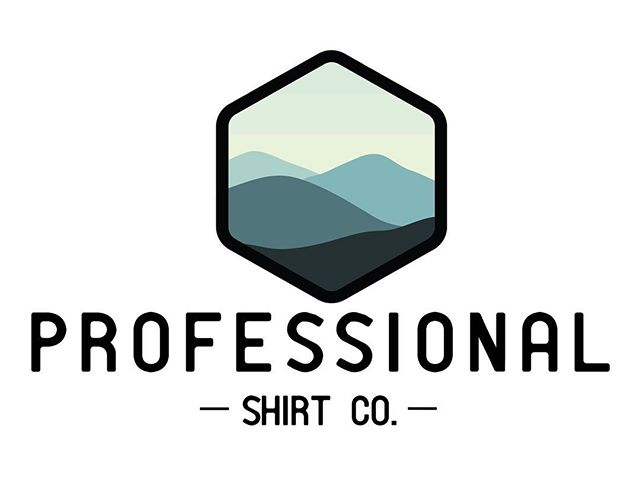 I'm super excited to release @professionalshirtco shiny new logo design! I love working with other  Asheville locals 🙌🏼 @stevencfreedman knew from the beginning he wanted to incorporate the blue ridge mountains. Being born and raised in Asheville, this project had my heart and I'm so happy with the final product!! ❤️💃🏻✨ . . #828isgreat #ashevillelocal #asheville #roamwilddesign