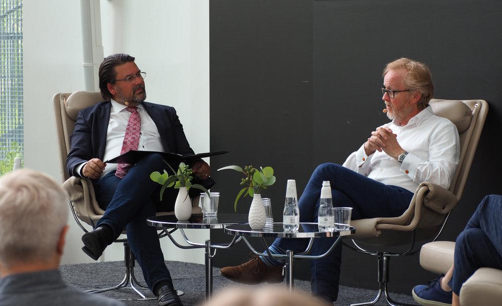 Magnus Tegborg and Lars-Johan Jarnheimer at the Alumni Spring Summit 2019