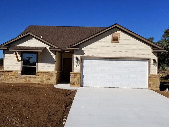 Bertram, Texas plan# 1265 - Located in Dove Meadows, a new Bertram subdivision featuring 80 homesites.1265 square feet3 bedroom2 bathroom2 car garage157 Hunter Loop offered at $215,000