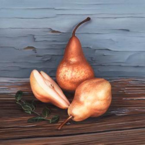 Three Pears    Oil on Panel 14x14