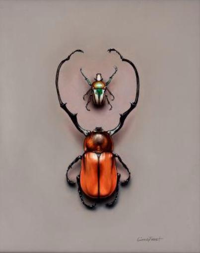 Beetles #1    Oil on Panel 8x10