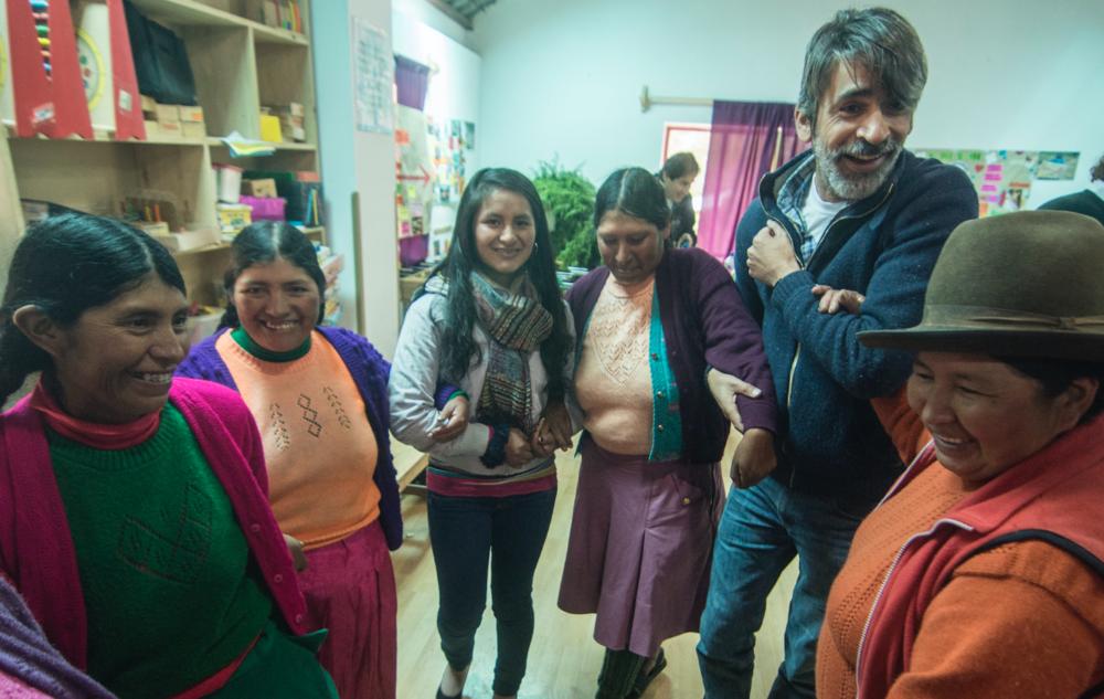 Rodrigo takes part in a Parents Workshop.