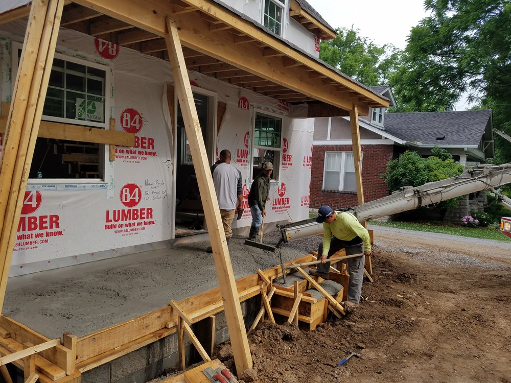 Concrete porch nashville