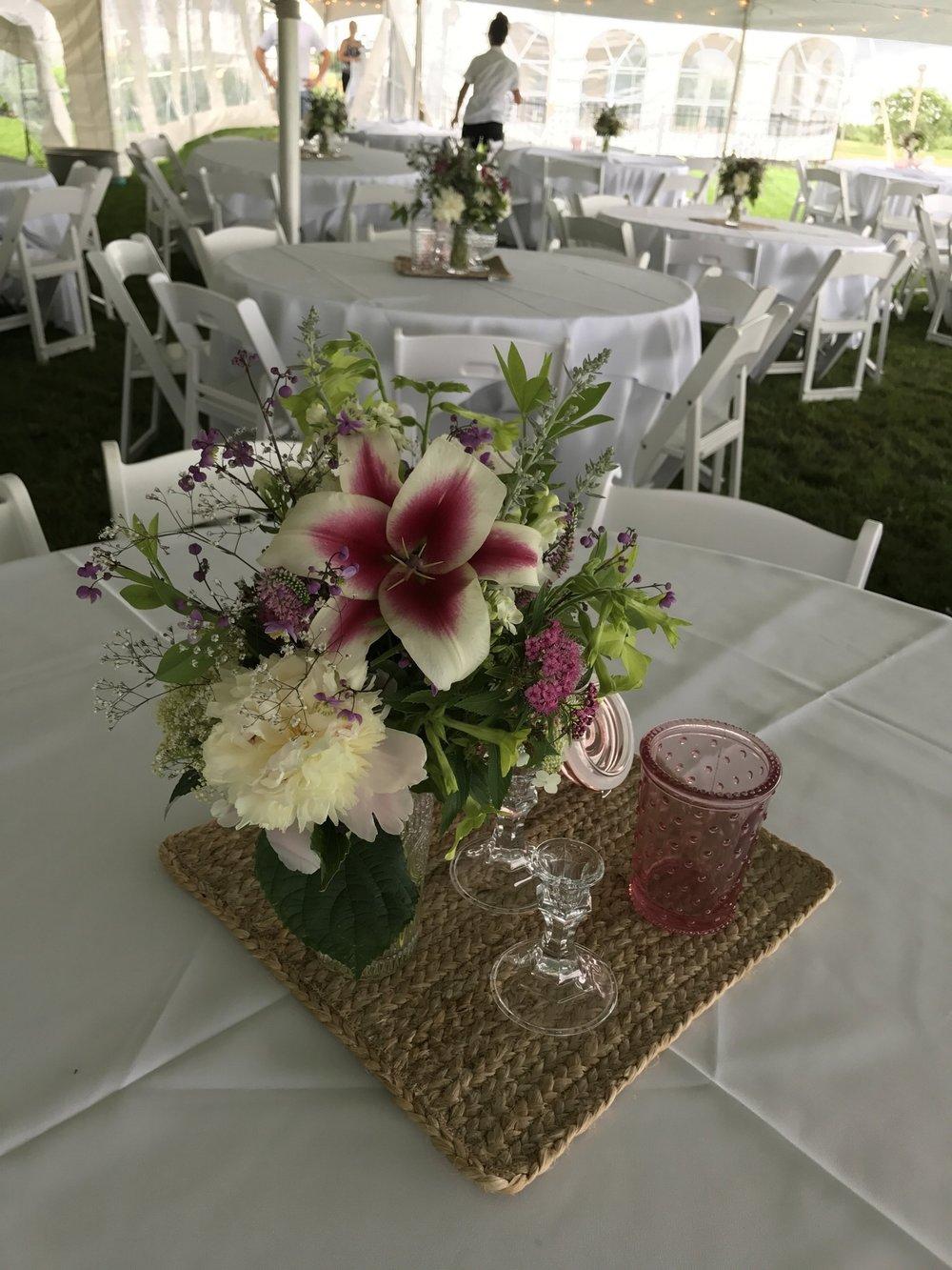 Mid-July Vase Centerpiece