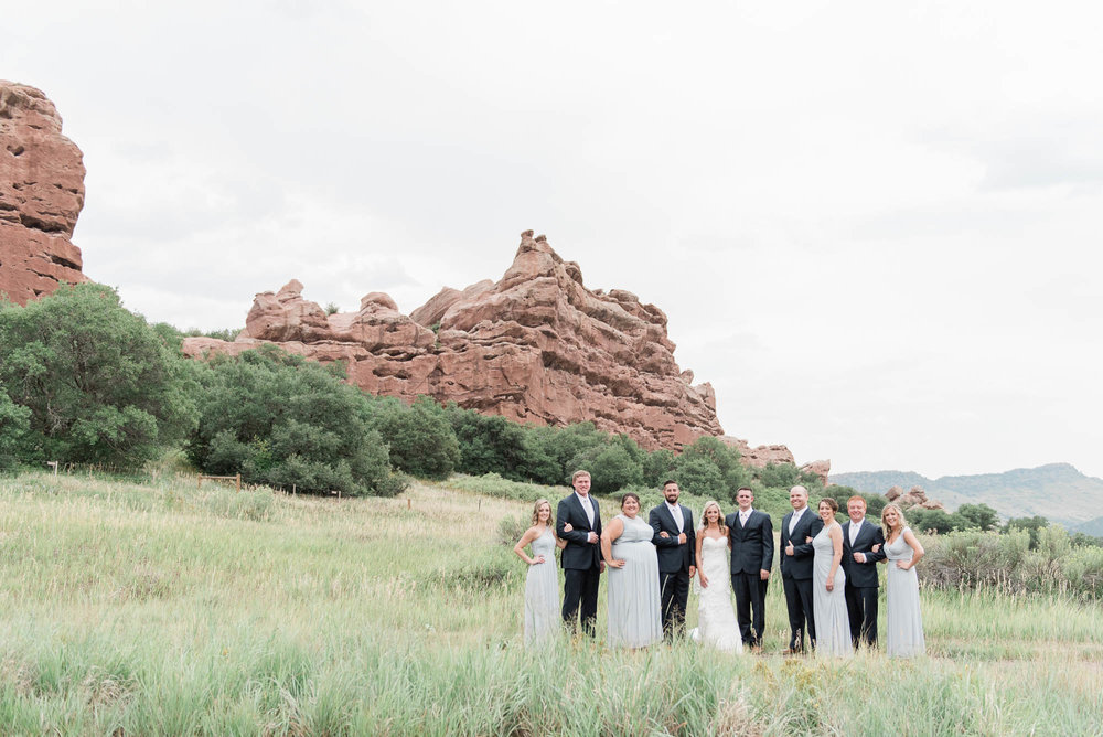 South Valley Park Bridal Party Photography