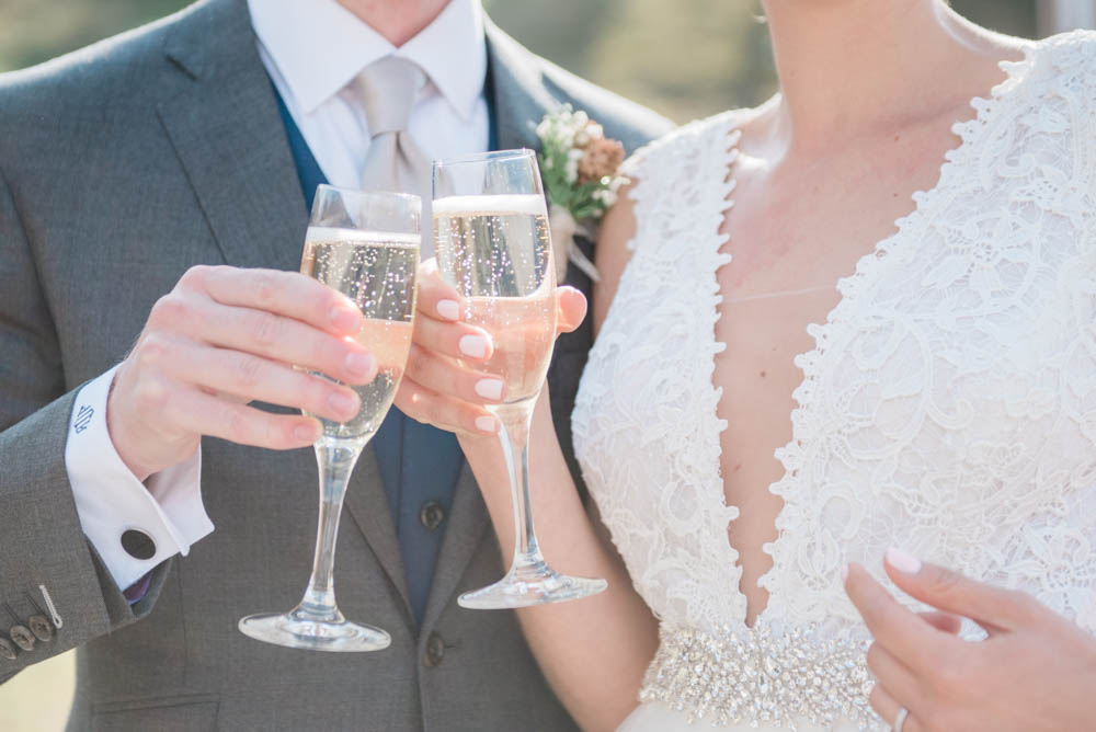 Adventurous Fine Art Wedding with a Champagne Toast