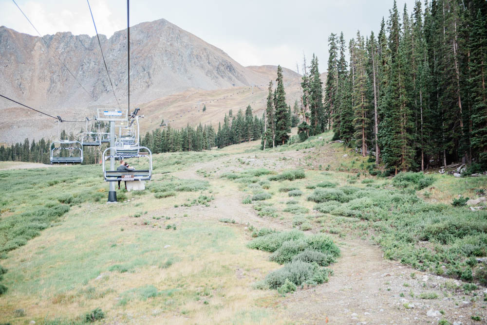 Adventurous Mountain Wedding Chairlift Photography