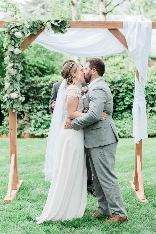 Boulder Colorado Intimate Summer Wedding Ceremony