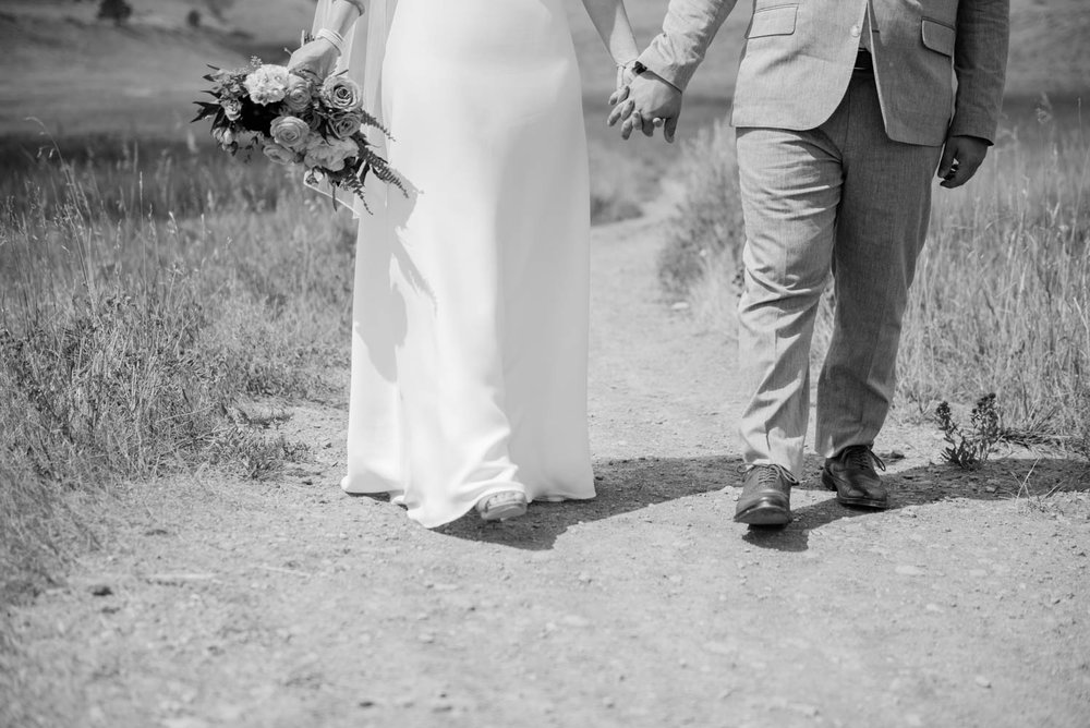 Bride and Groom in the Boulder Foothills