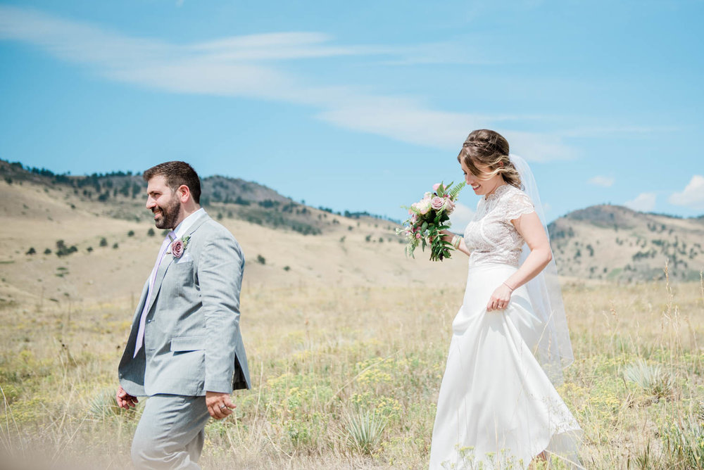 Bride and Groom Photography Portraits in the Boulder Foothills