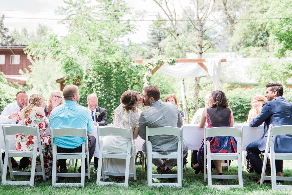 Outdoor farm table reception