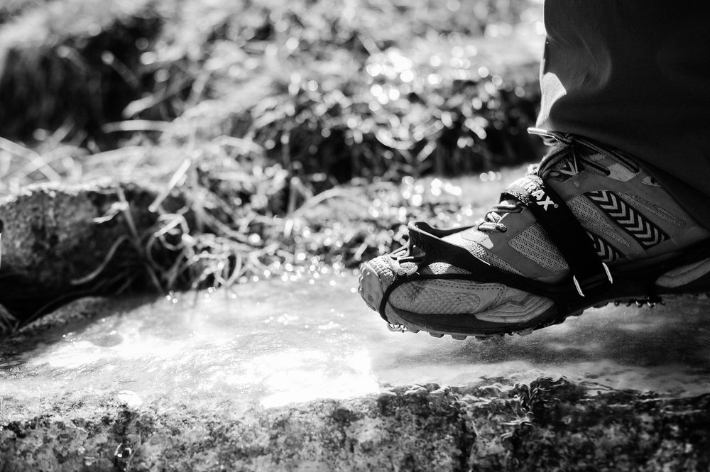 Adventure photography session hiking a 14er with Microspikes is a must