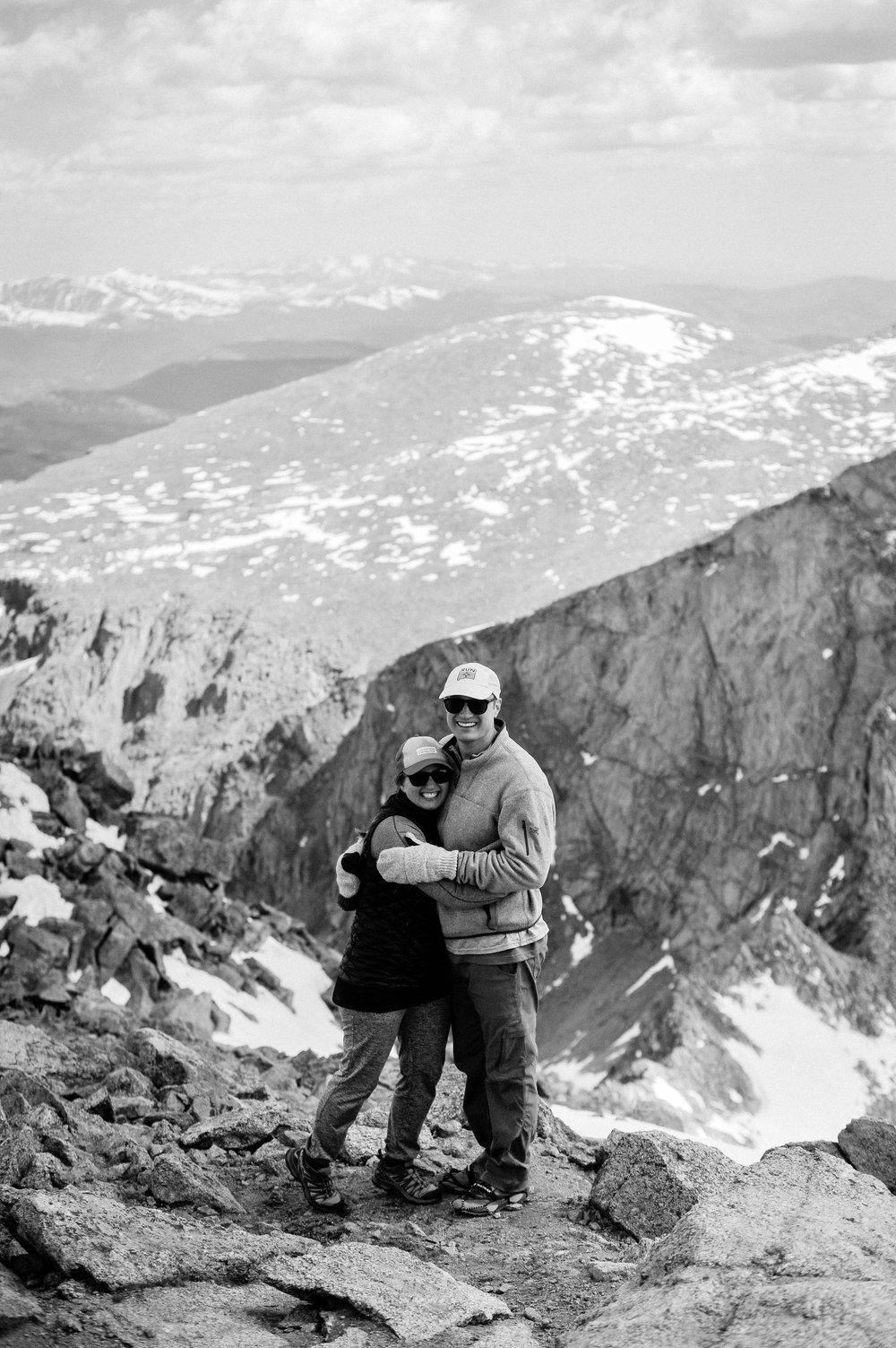 Adventure Photography of Ashleigh and Matt on Mt. Bierstadt