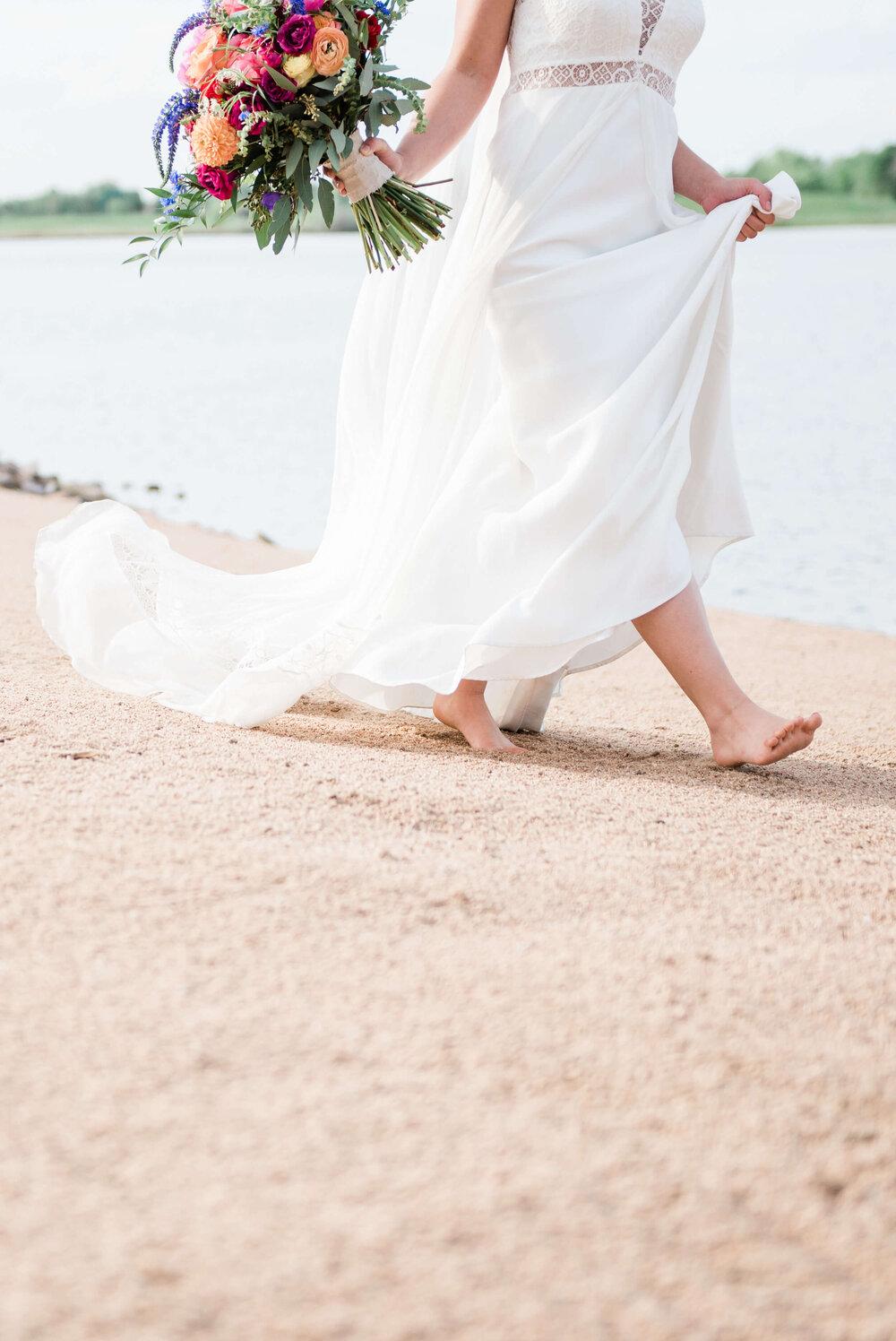 Colorado Beach Boho Elopement Photography