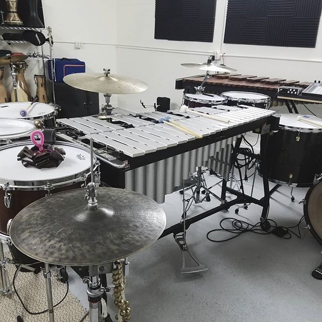 taking this set up for a spin at @artlitlab feb. 9th  #sunhouse #instanbulagop #vibraphone #percussion #y2 #ableton