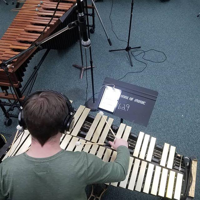 some light recording action last night. . . . . #newishmusic #percussion #vibraphone #marimbaone #beyerdynamic #akg