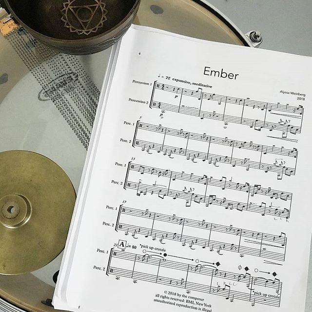 """We are VERY excited to premiere """"Ember"""" by @weinbergmusic tonight at the Wisconsin Conservatory of Music, along with pieces by @composerjuri, @natemaynatemay, @andyakiho, Anna Ignatowicz, and ourselves.  7pm, free!"""
