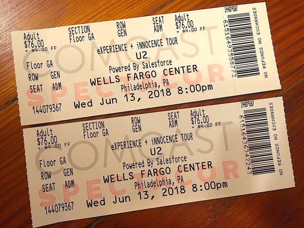 Two tickets for the floor!