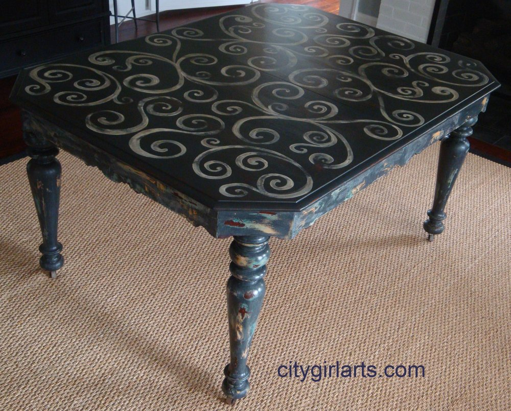 French Farm Swirl Table