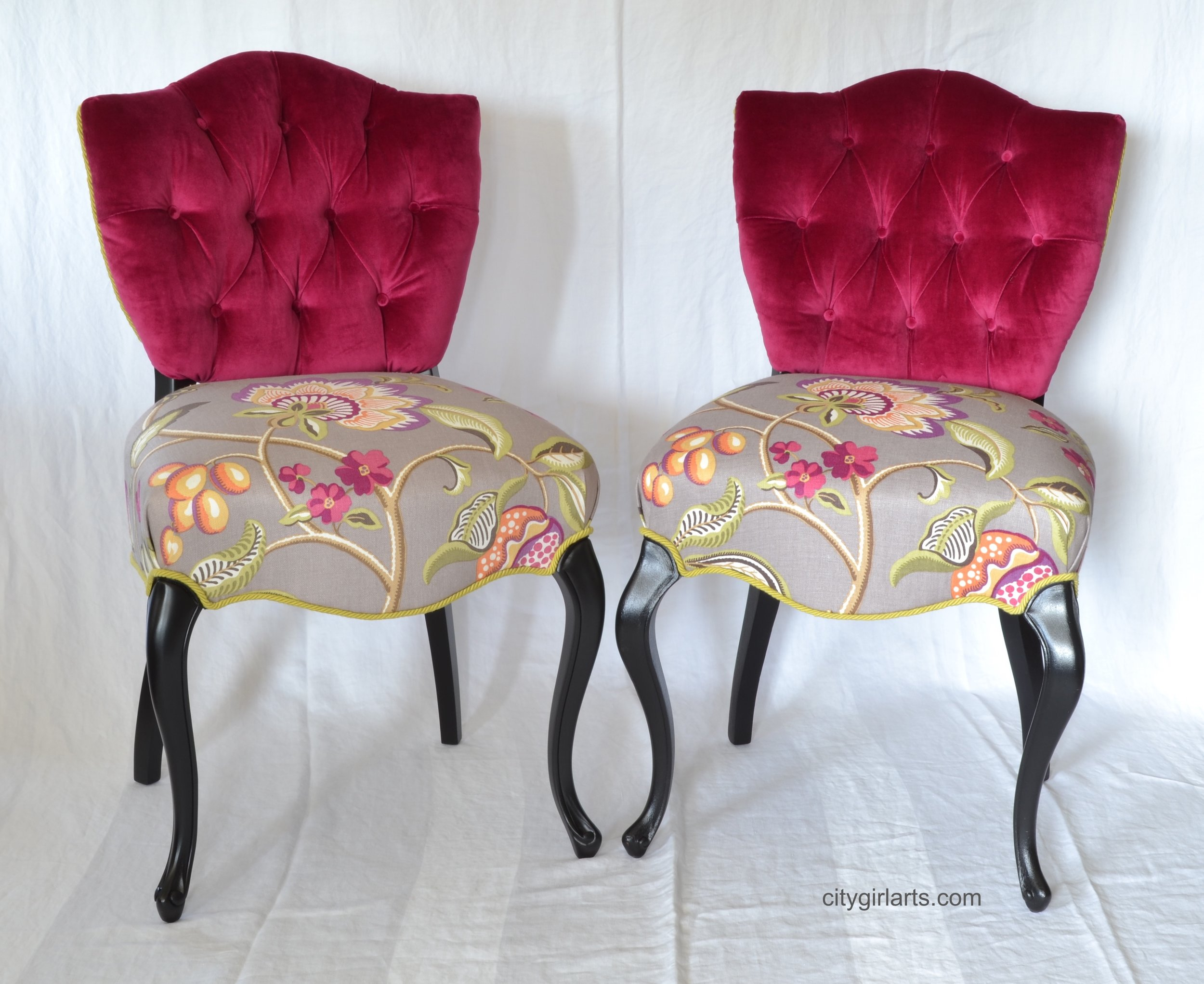 French Shield Back Chair Fronts