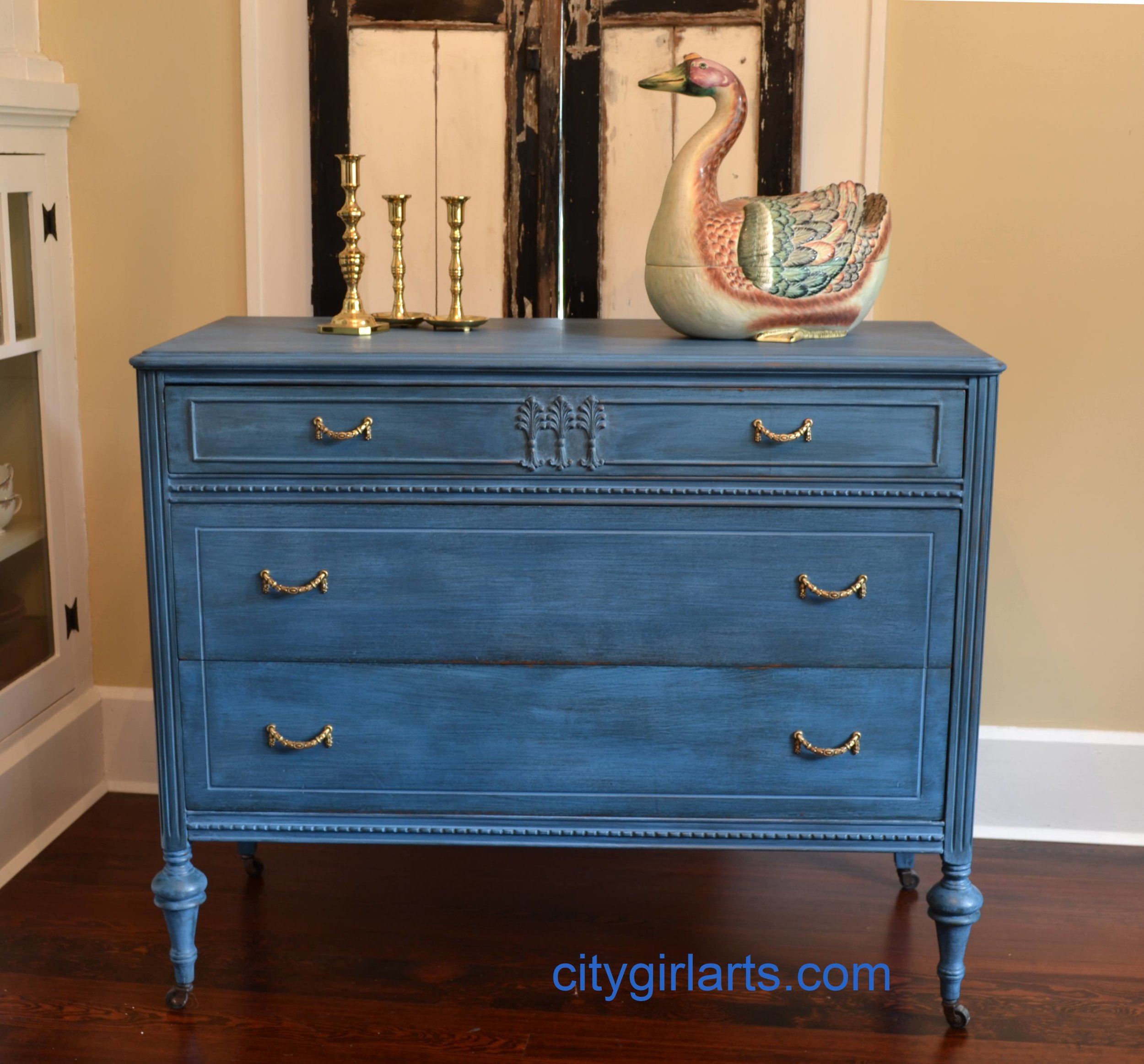 Garland Dresser in Blue Milk Paint