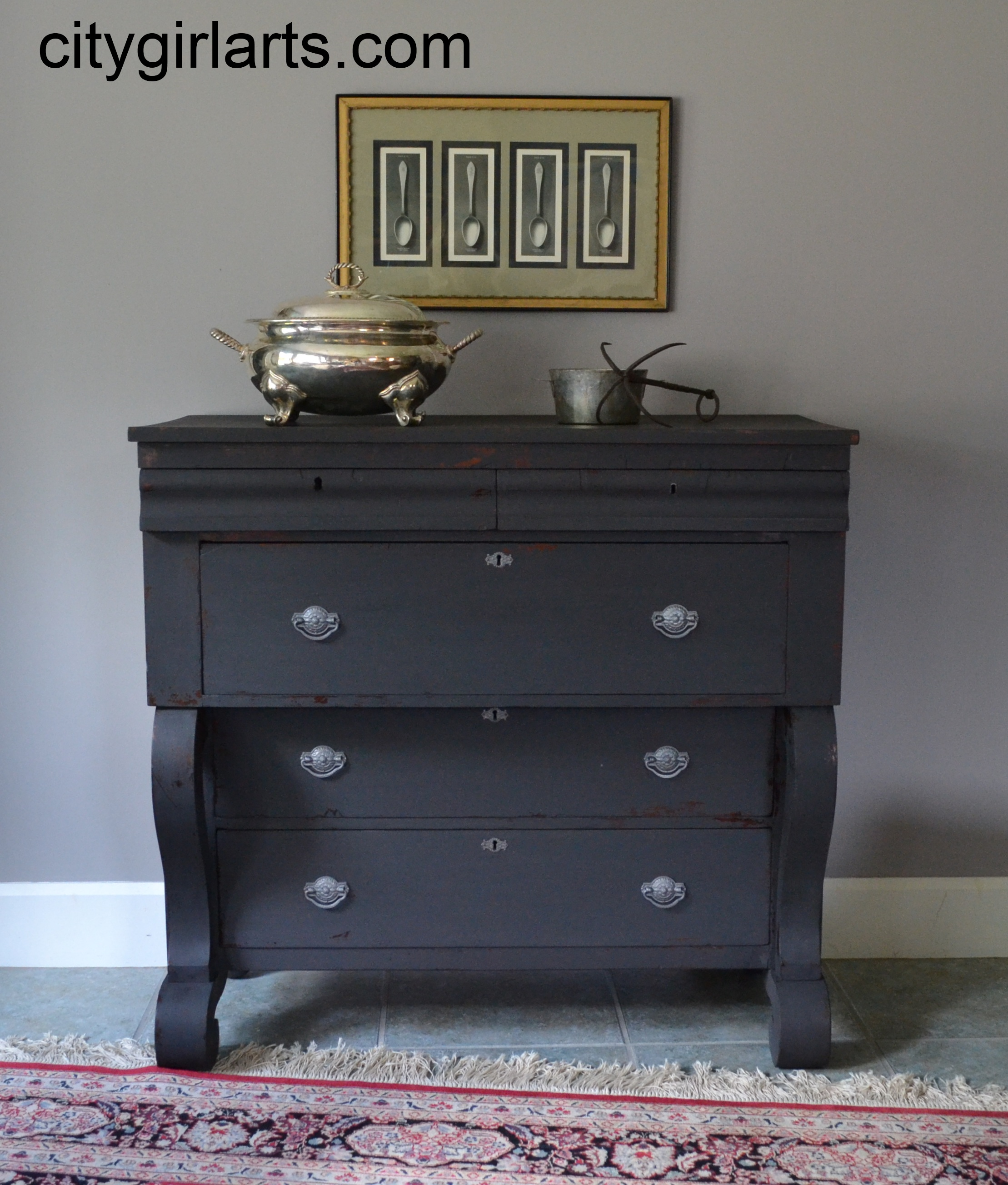 Antique Empire Dresser in Milk Paint SOLD