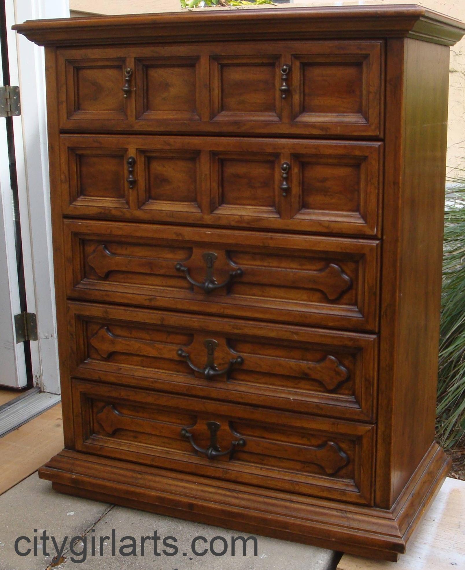 Vintage Eggplant Henredon Dressers: Spanish Revival Revived ...
