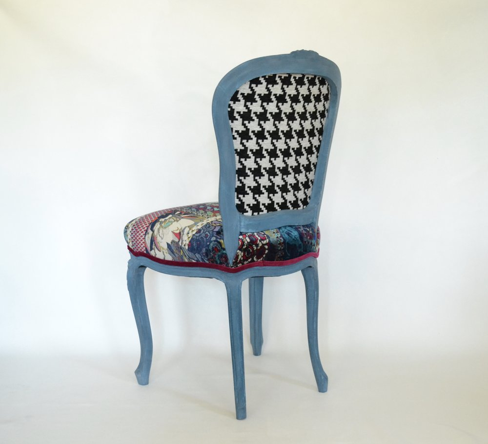 City Girl Arts upholstered boho french chair